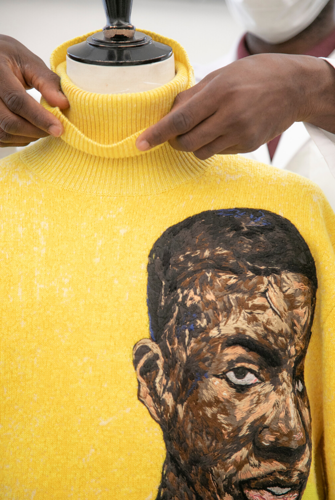 At Dior, Kim Jones shines the spotlight on Ghana with artist Amoako Boafo (фото 4)
