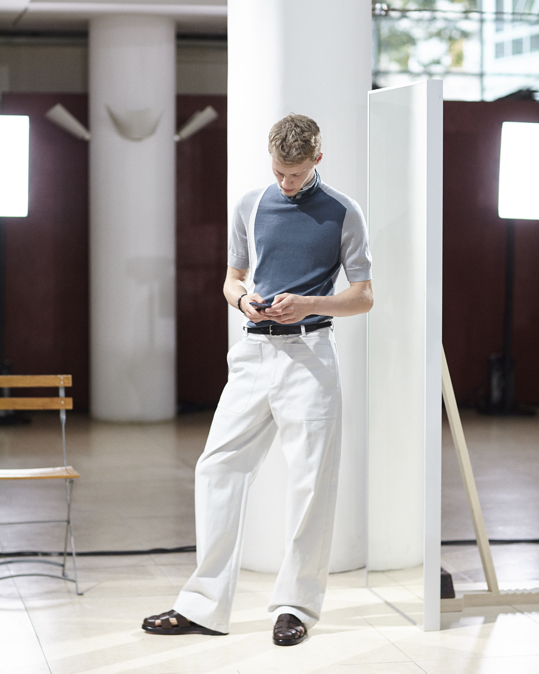 Hermès' new menswear collection boasts simplicity and a timeless casualness (фото 1)