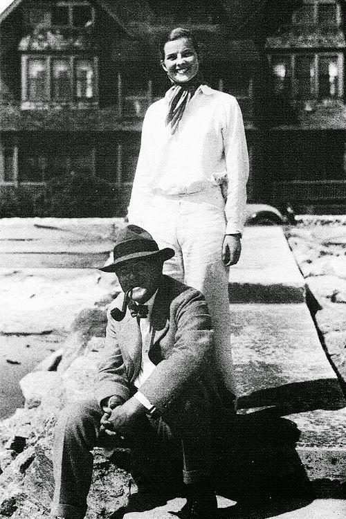 Кэтрин Хепберн с отцом