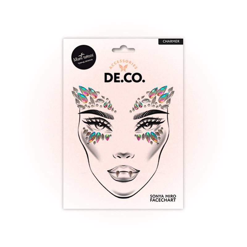 Кристаллы для лица и тела De.Co. Face Crystals Charmer, Miami Tattoos