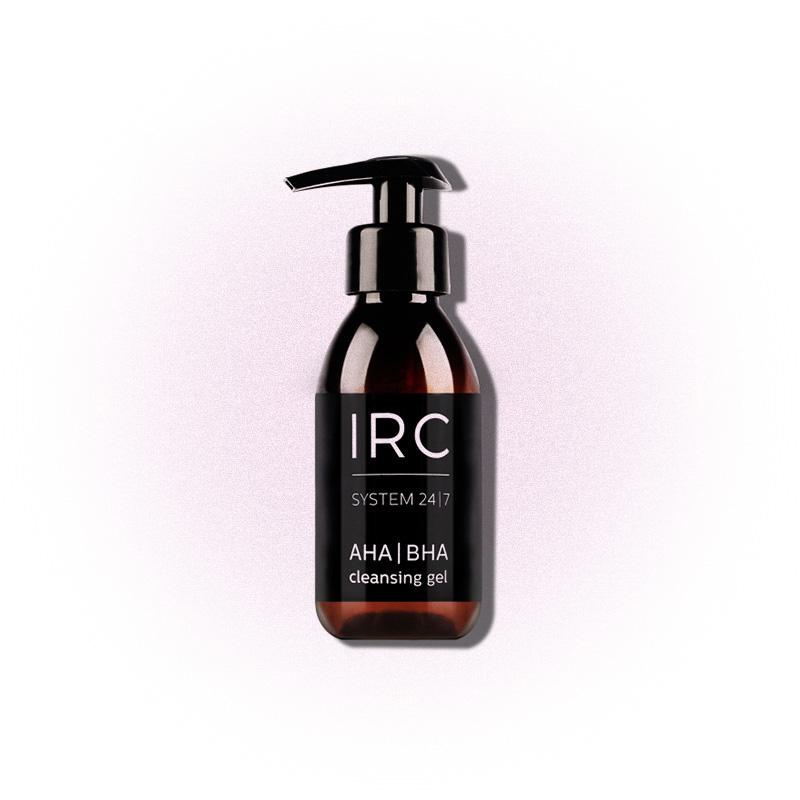 Очищающий гель для лица с AHA- и BHA-кислотами, IRC System 24/7