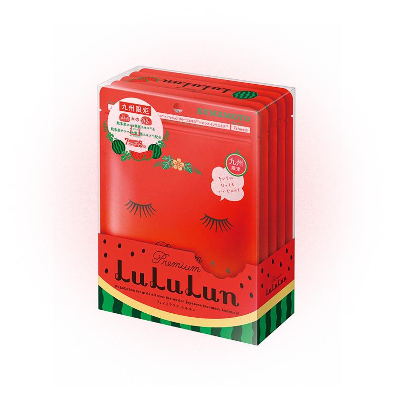 Маска для лица увлажняющая против отеков «Арбуз из Кумамото» Premium Face Mask Watermelon