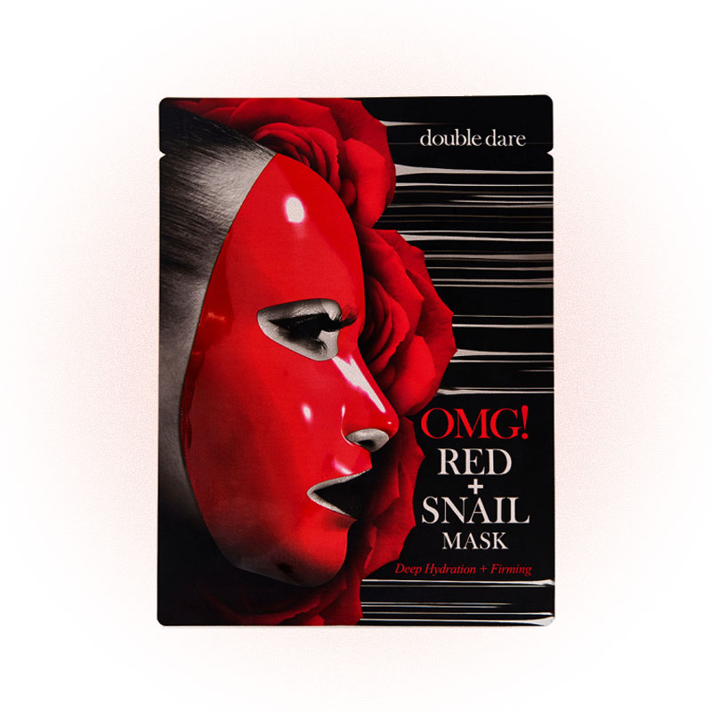Маска для лица RED+SNAIL MASK, Double Dare OMG!