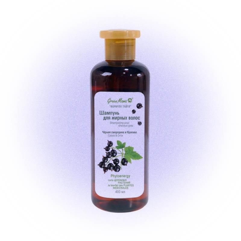 Green Mama шампунь «Формула тайги для жирных волос Черная смородина и Крапива»
