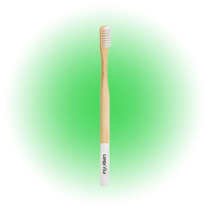 Зубная щетка средней жесткости Bamboo, Longa Vita