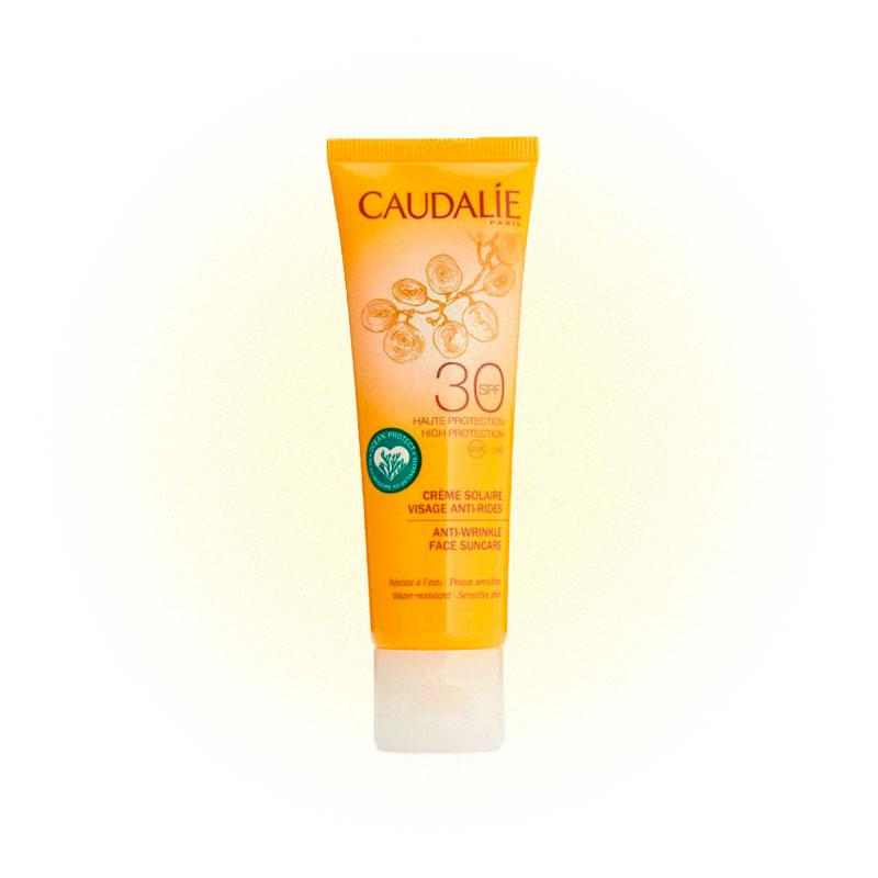 Санскрин Caudalie solaire anti-wrinkles face suncare с антивозрастным эффектом
