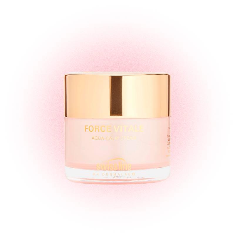 Успокаивающий увлажняющий крем для чувствительной кожи Force Vitale Aqua-Calm Cream, Swissline