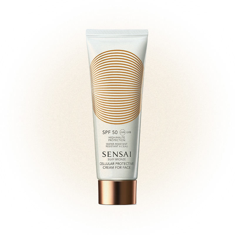 Cолнцезащитный крем для лица SPF 50 Silky Bronze, Sensai