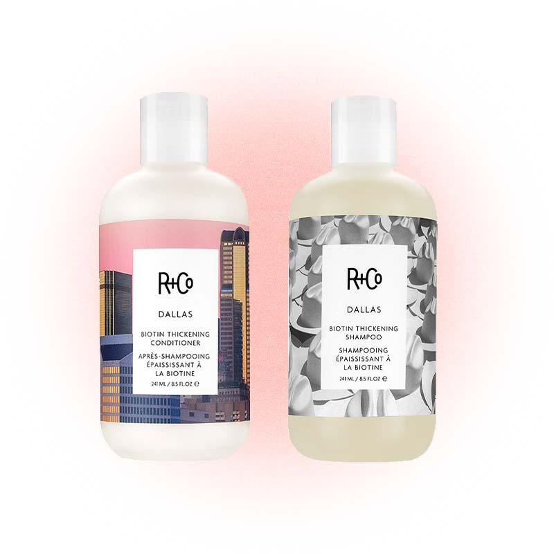 Укрепляющие шампунь и кондиционер с биотином Dallas Biotin, R + Co
