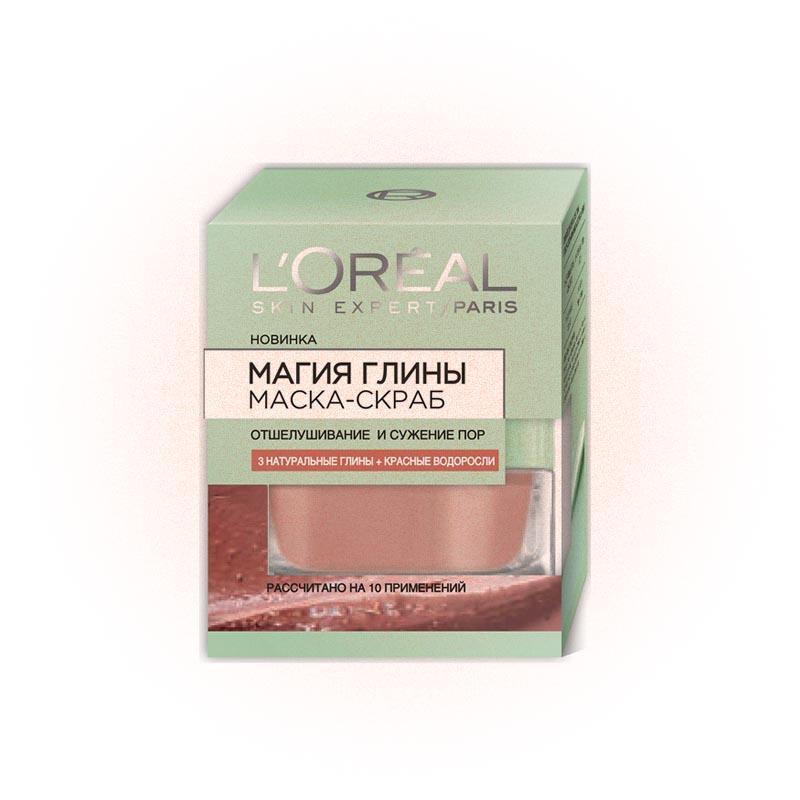 Маска-скраб «Магия глины, отшелушивание и сужение пор», L'Oréal Paris