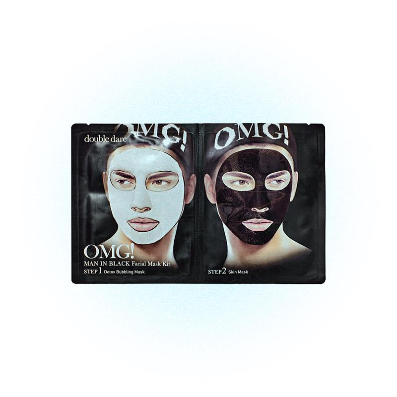 Мужская маска-детокс Man in Black, OMG! Double Dare