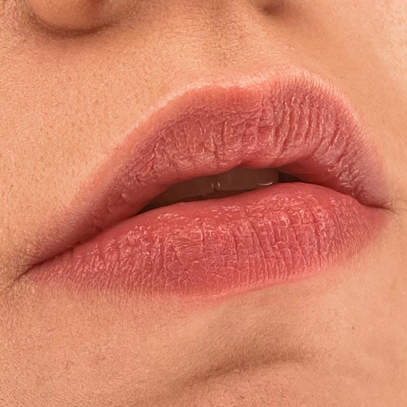 Помада L'Absolu Mademoiselle Balm, 008 Blush Me Up, LANCÔME на губах