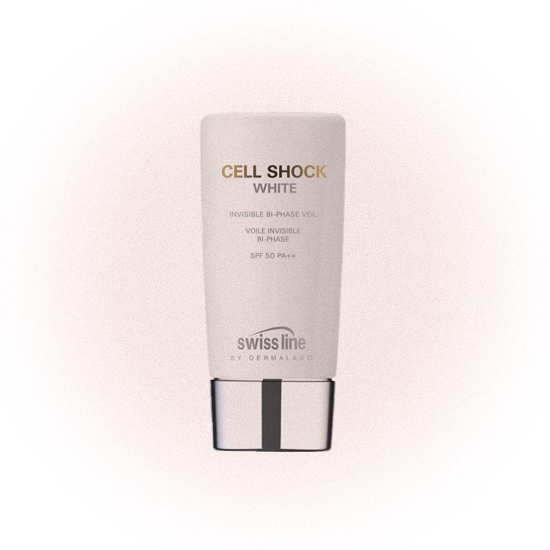 Крем для лица и области декольте Swiss Line Cell Shock White Invisible Veil