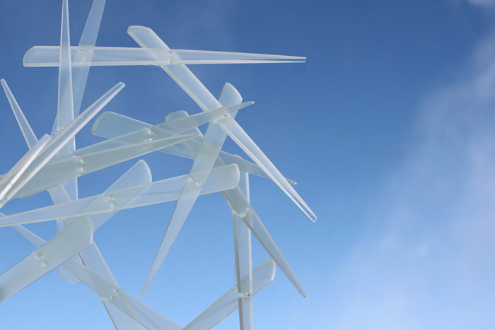 Small sculpture of series ICICLES. ANGLES ANGELS