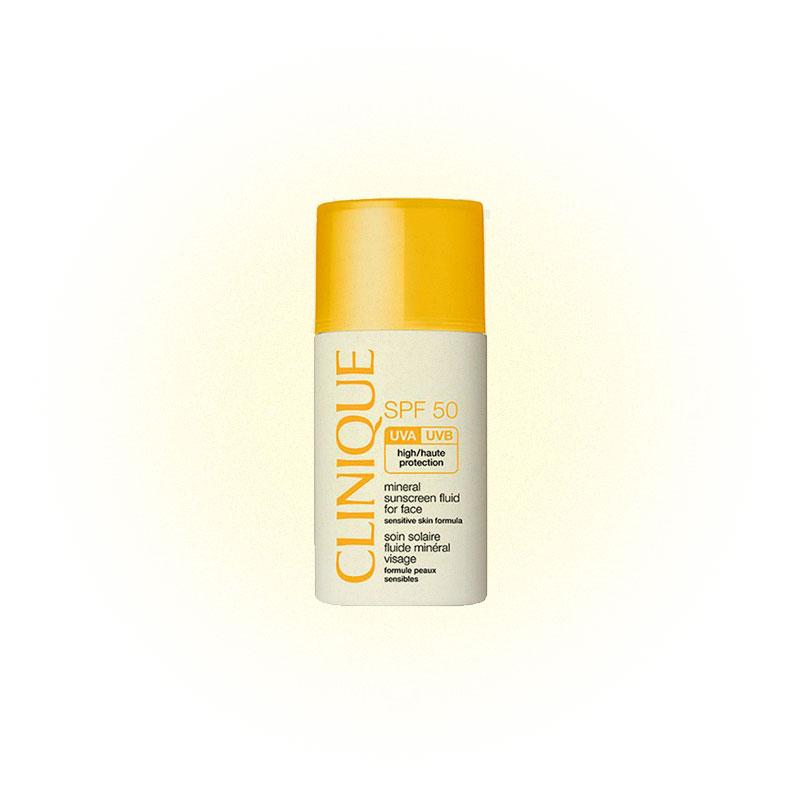 Санскрин Clinique mineral sunscreen fluid for face spf 50 для чувствительной кожи