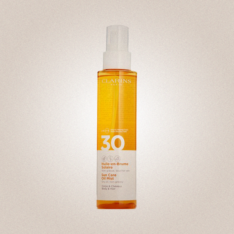 Для тела и волос Huile-en-Brume Solaire SPF 30, Clarins