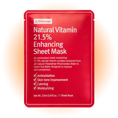 Тканевая маска Natural Vitamin C 21.5% Enhancing Sheet Mask, By Wishtrend
