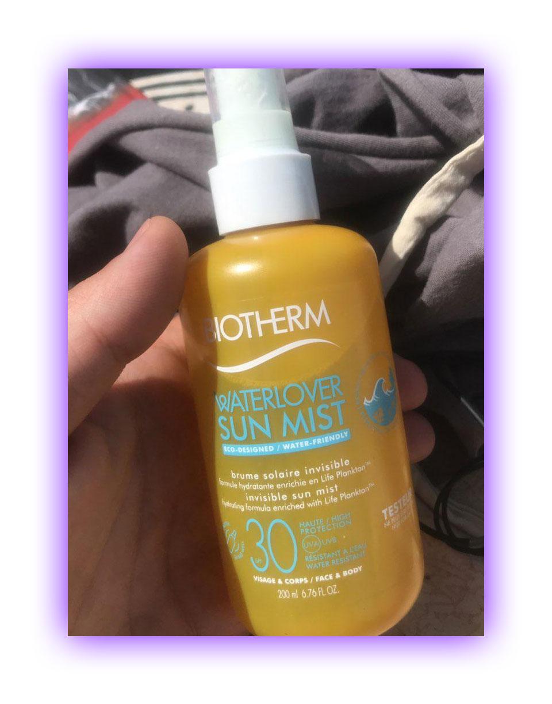Тестирование спрея-мист для лица и тела Waterlover Sun Mist, Biotherm