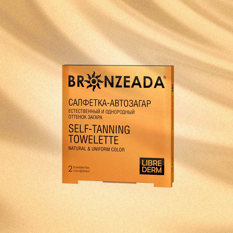 Салфетка-автозагар Bronzeada, Librederm