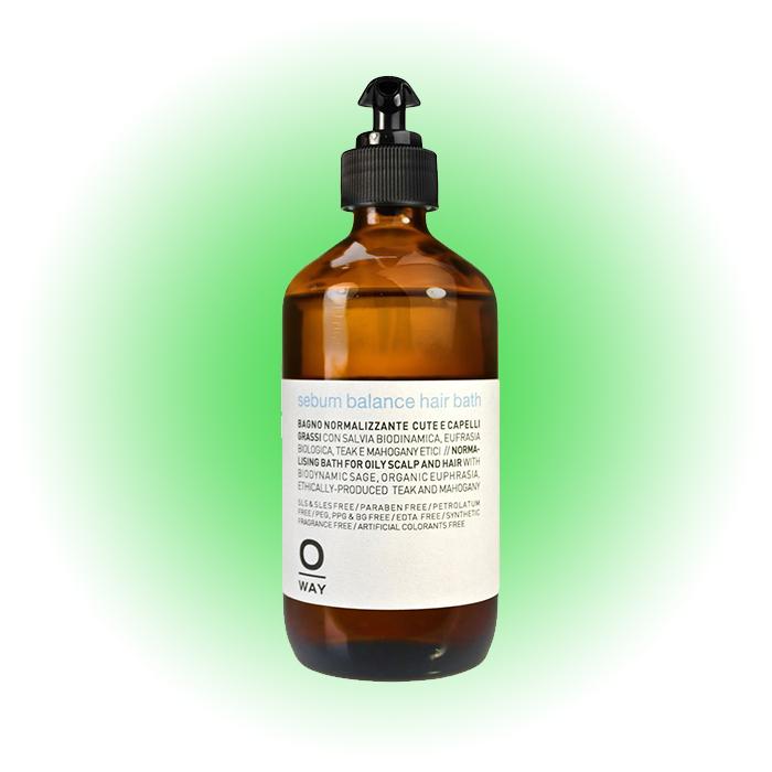 Балансирующий шампунь для глубокого очищения кожи головы и структуры волос Rebalansing, Oway
