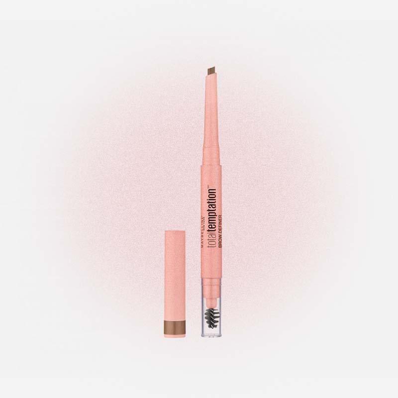 Тонкий механический карандаш для бровей Total Temtation, Maybelline