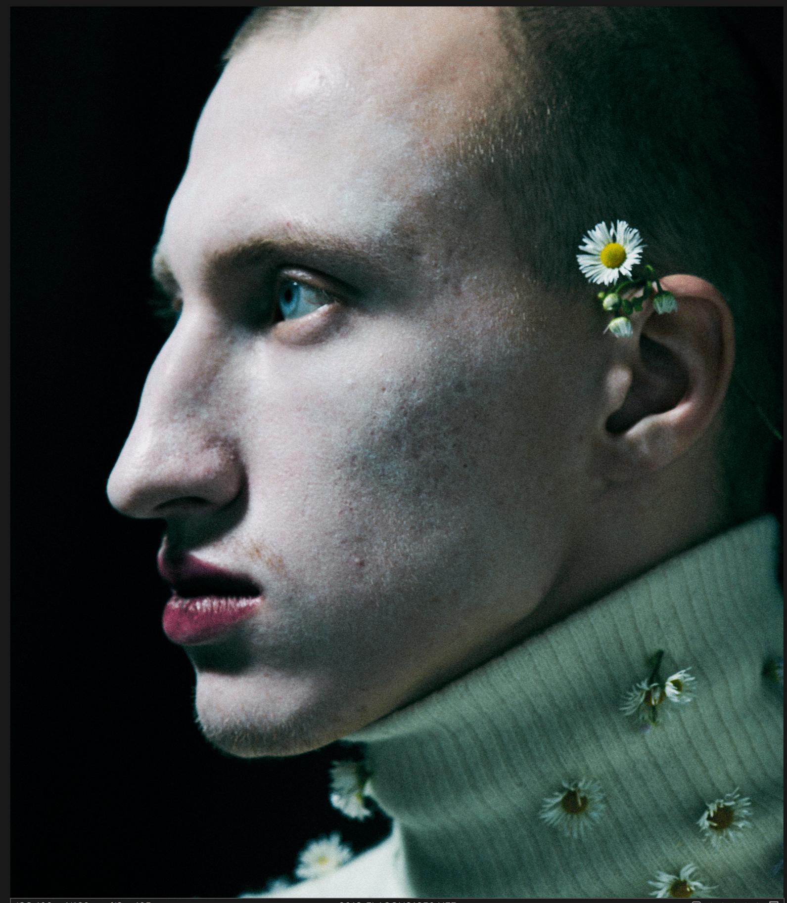 Съемка мужчин в макияже