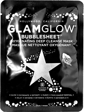 Очищающая тканевая маска для лица Bubble Sheet, Glamglow
