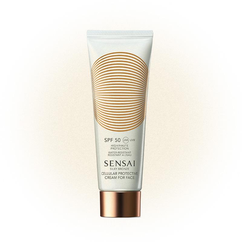 Солнцезащитный крем для лица SPF 50 Silky Bronze, Sensai