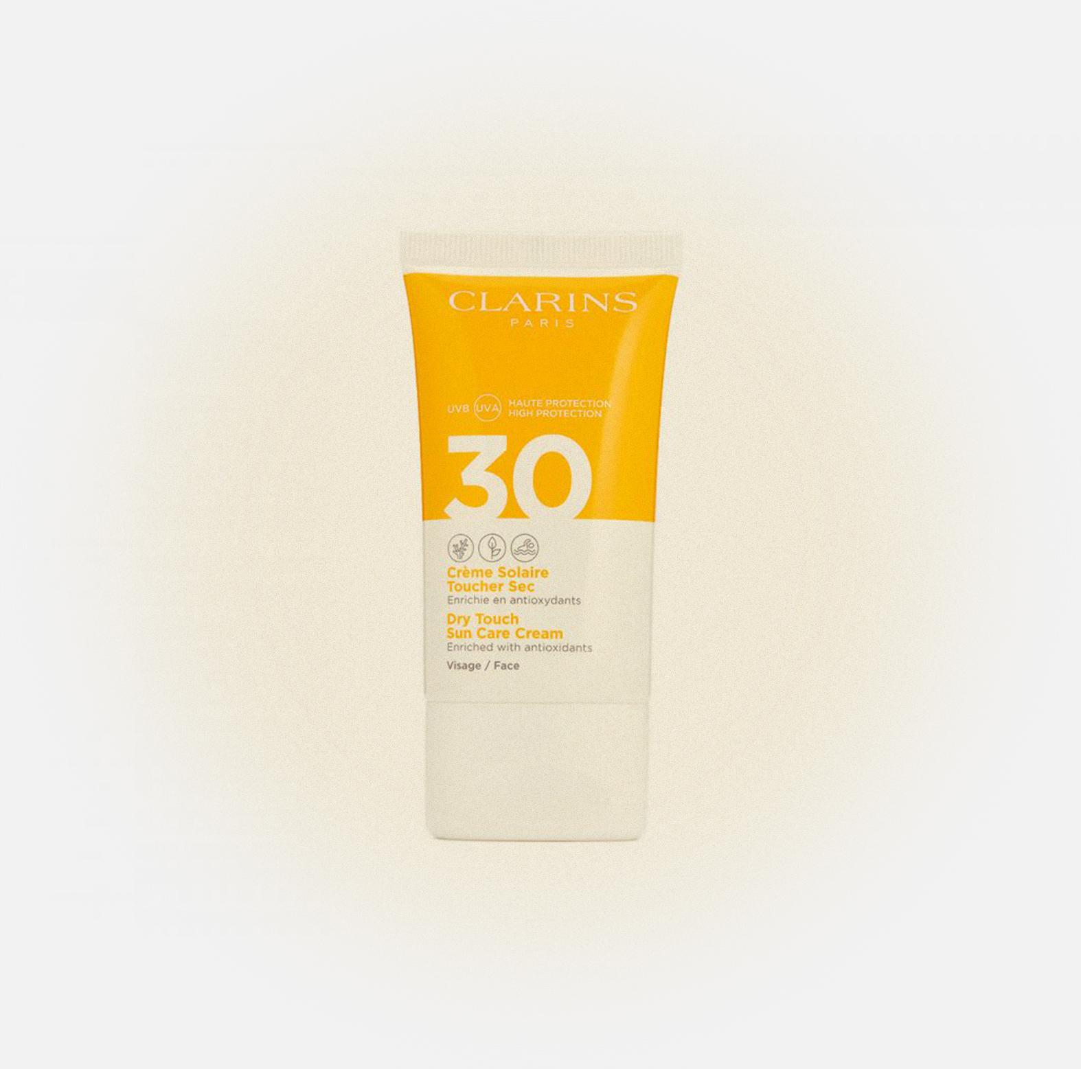 Солнцезащитный крем Crème Solaire Toucher Sec Visage SPF 30, Clarins