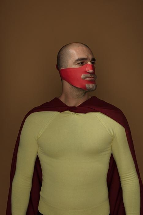Автопортрет с утягивающей маской