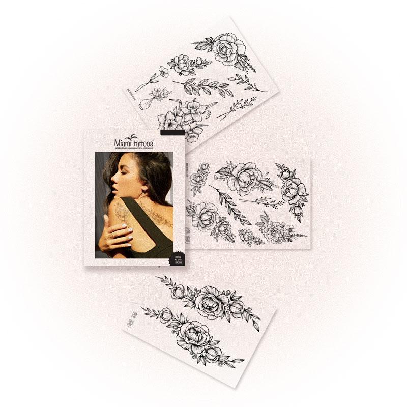 Набор переводных тату Renaissance, Miami Tattoos