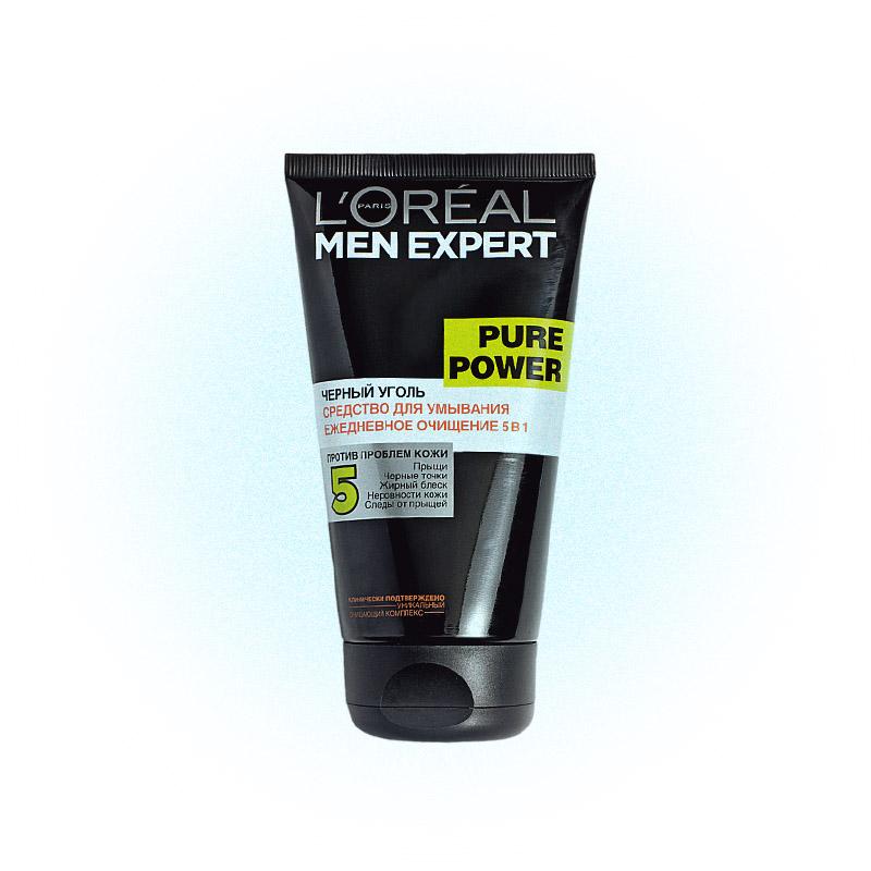 Средство для умывания проблемной кожи Pure Power, L'Oréal Men Expert