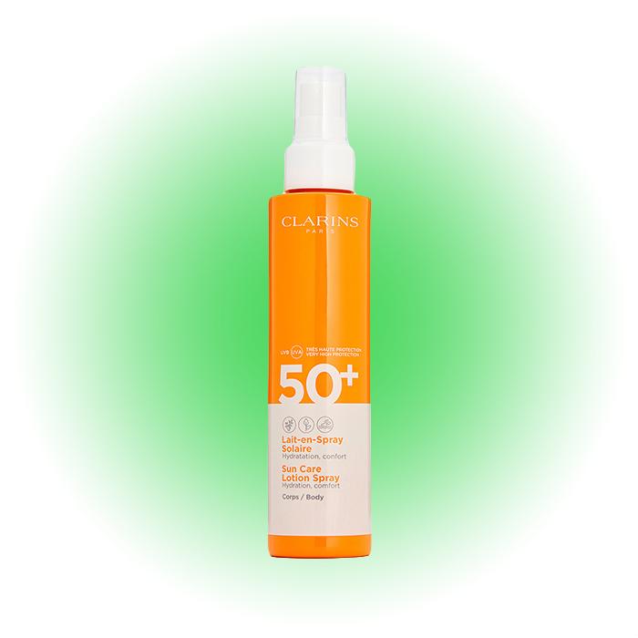 Солнцезащитное молочко-спрей Lait-en-spray Solaire Corps, Clarins