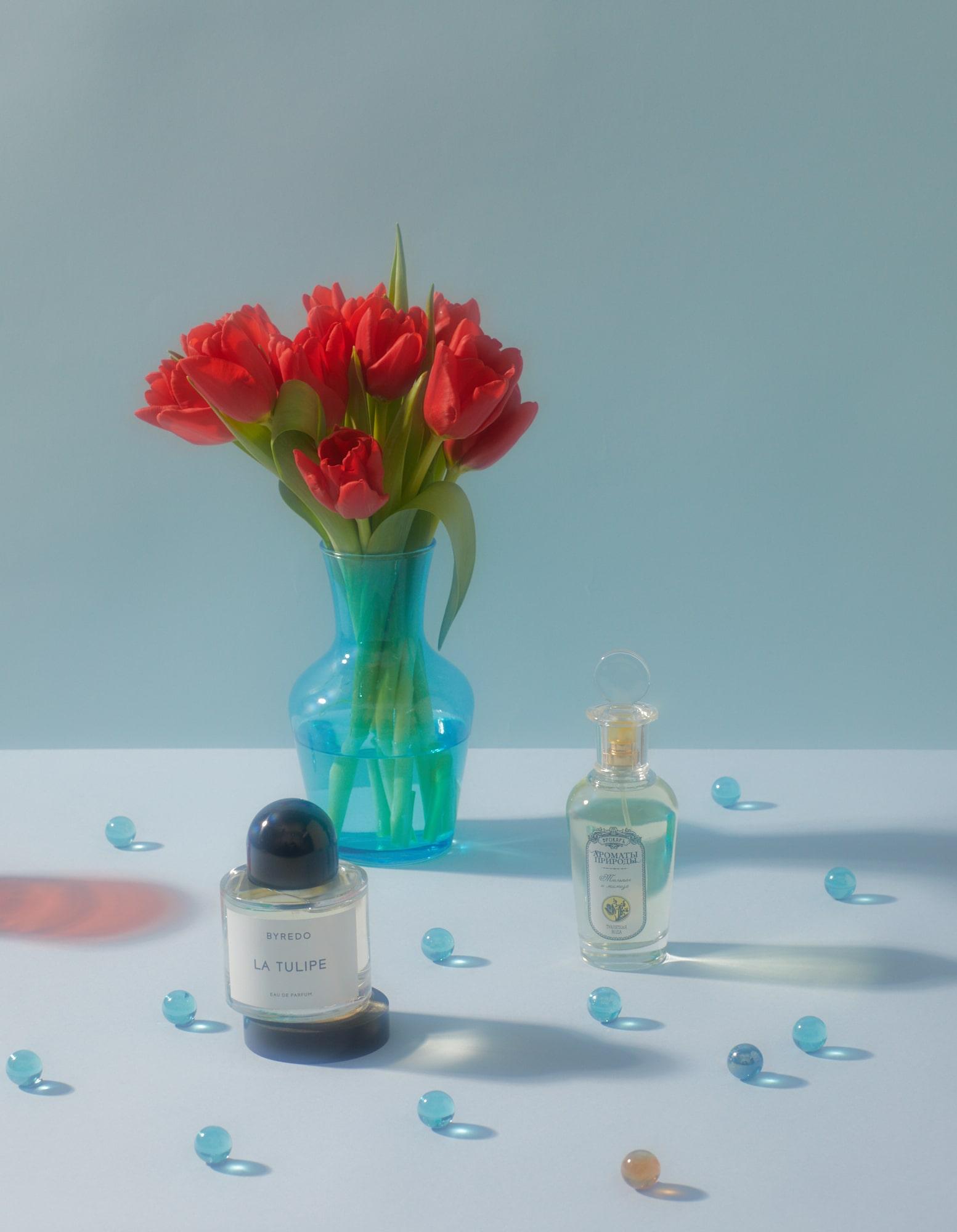 Духи с ароматом тюльпана