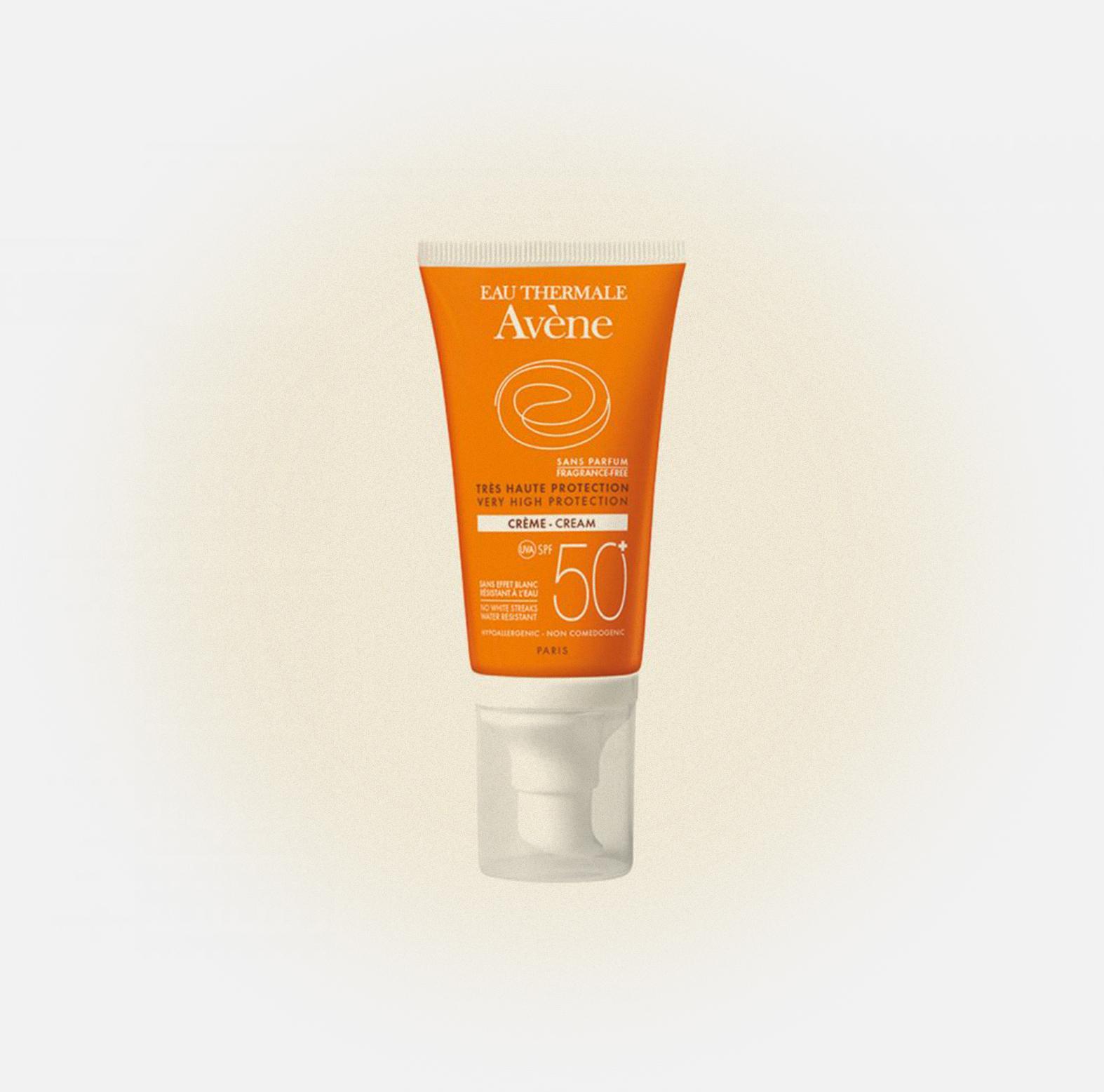 Солнцезащитный крем для лица и тела SPF 50+ без отдушек Sun, Avènе