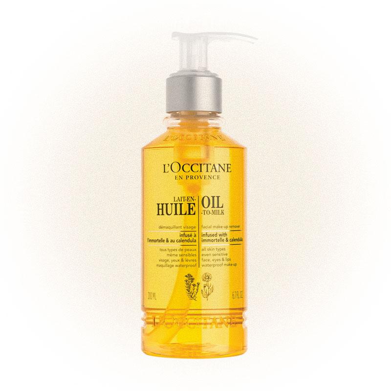 L'OCCITANE очищающее масло для лица с календулой и иммортелем