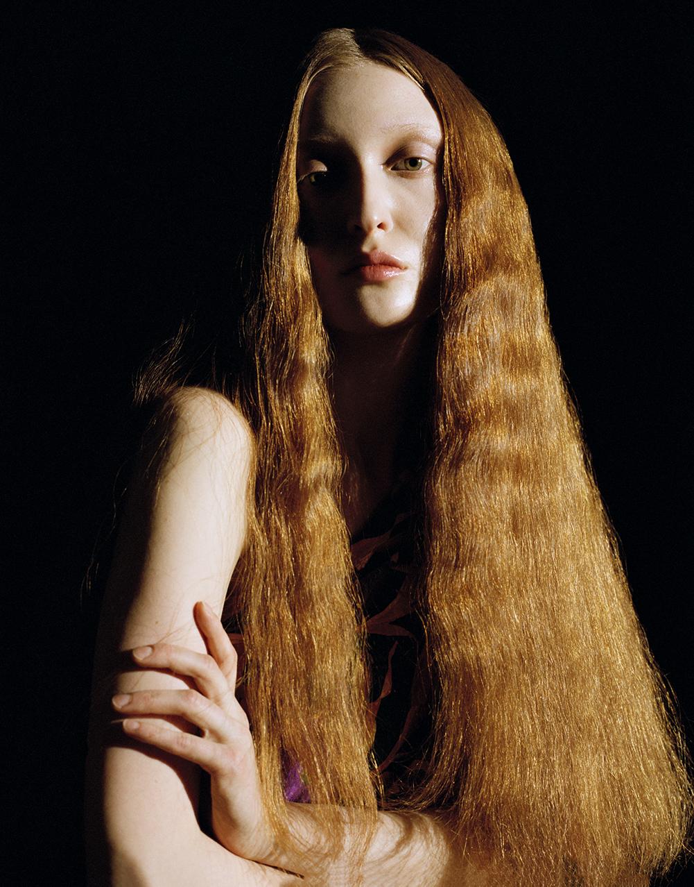 Съемка кудрявых волос