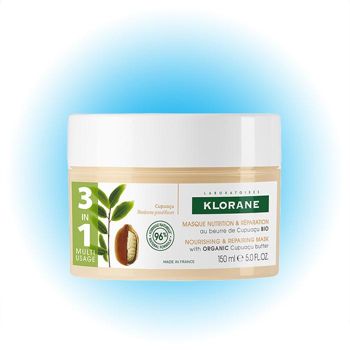 Питательная и восстанавливающая маска 3 в 1 с органическим маслом купуасу, Klorane