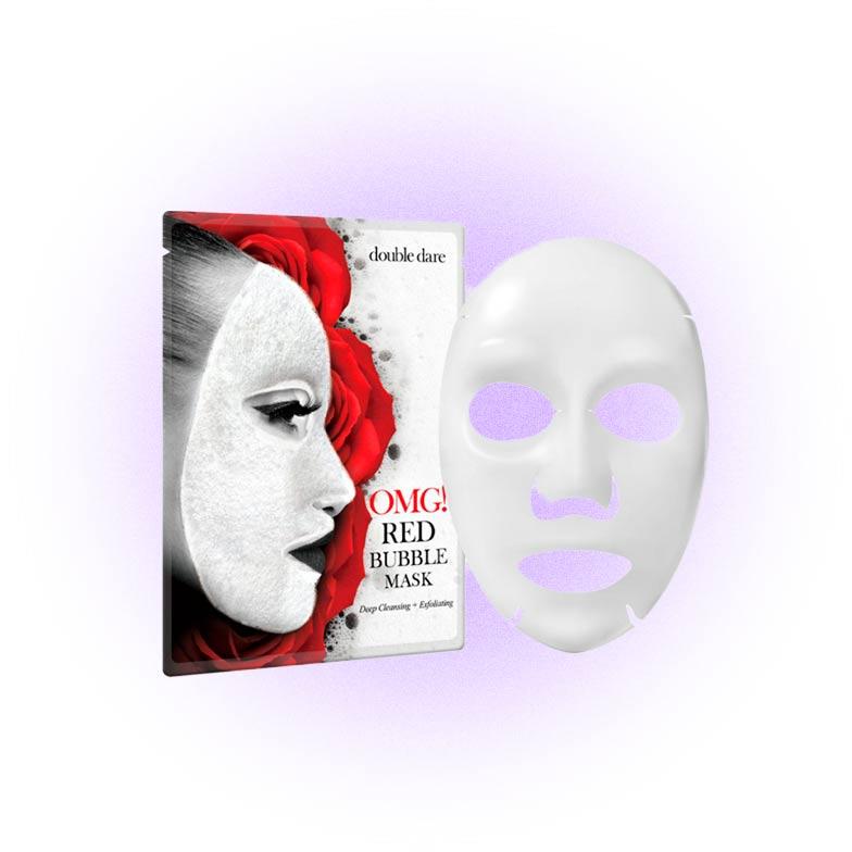 Очищающая баббл-маска OMG! Red Bubble Mask, Double Dare
