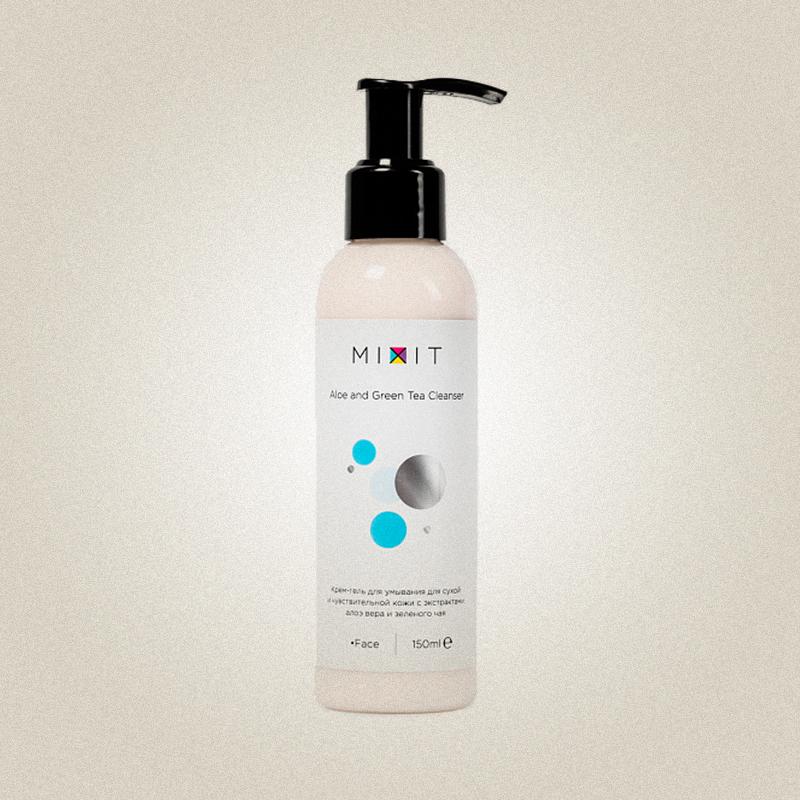 Крем-гель для умывания для сухой и чувствительной кожи, MIXIT
