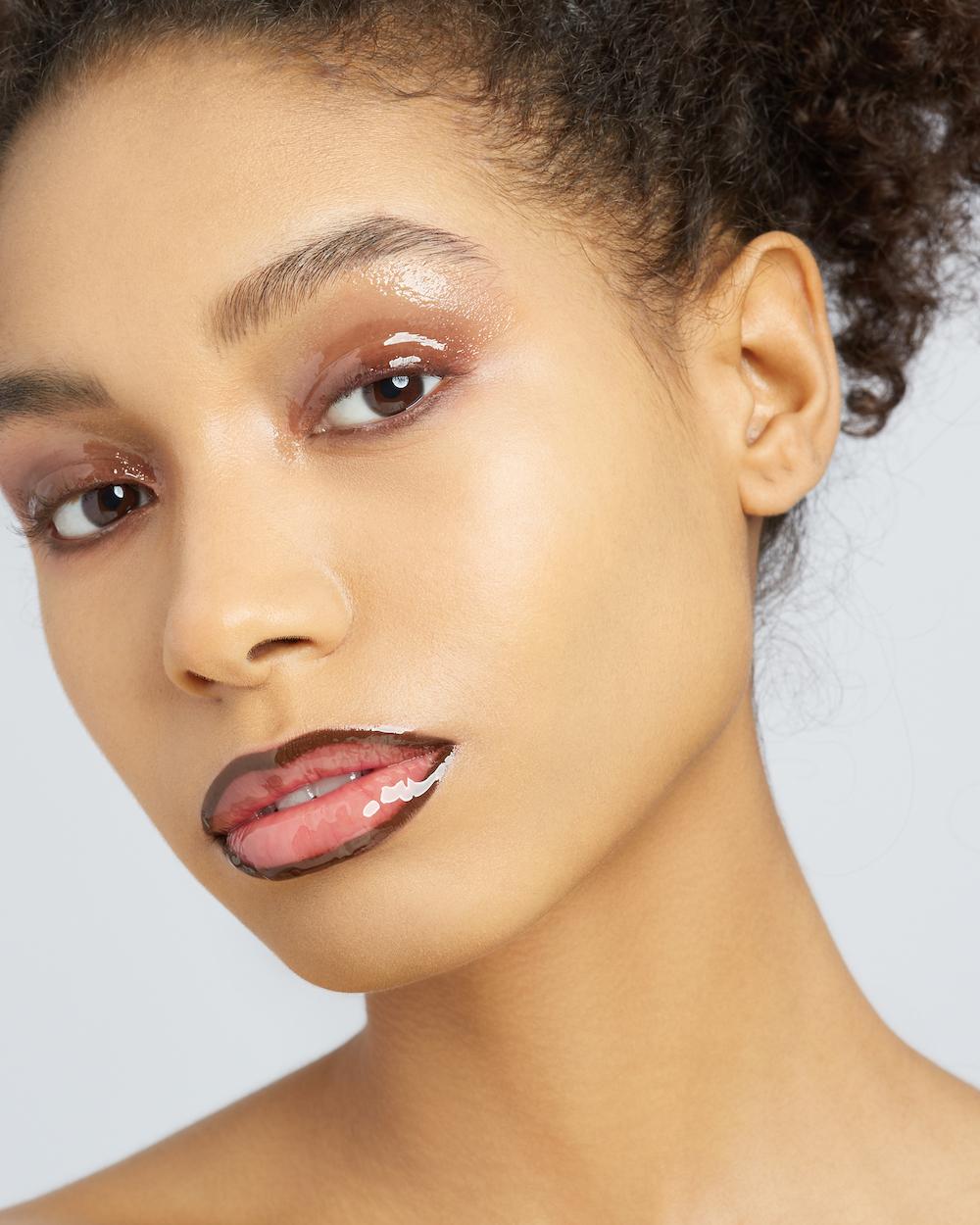 Глянцевый макияж