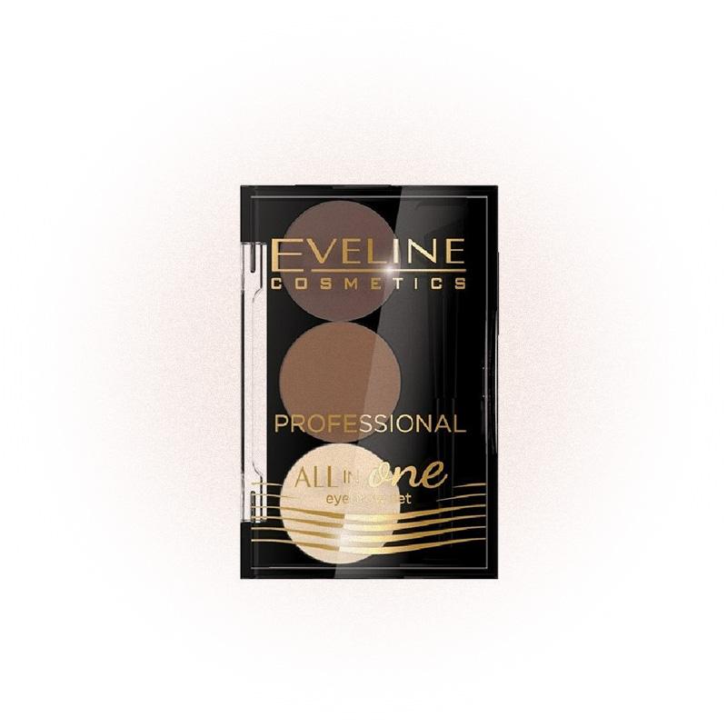 Тени для бровей All in Оne Eyebrow Set, Eveline