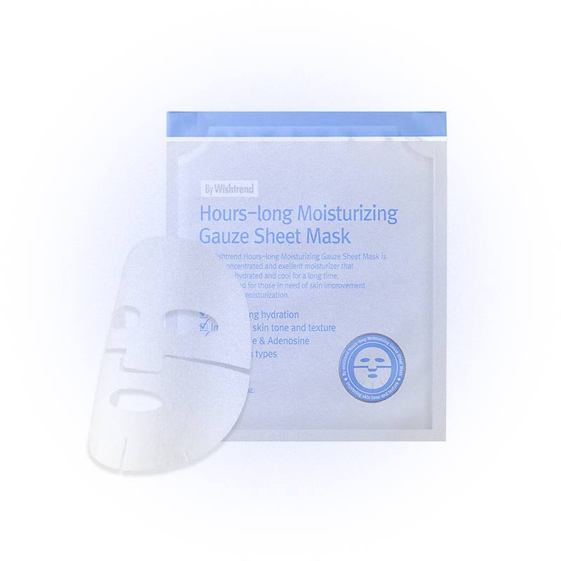Увлажняющая тканевая маска Hours-Long Moisturizing Gauze Sheet Mask, Wishtrend