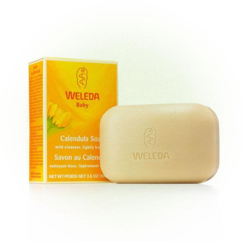 Растительное детское мыло с календулой, Weleda
