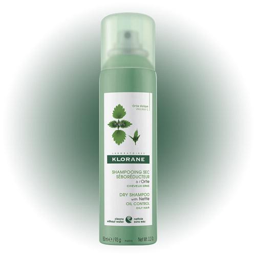 Сухой шампунь Dry Shampoo with Nettle Extract for Oily Hair, Klorane