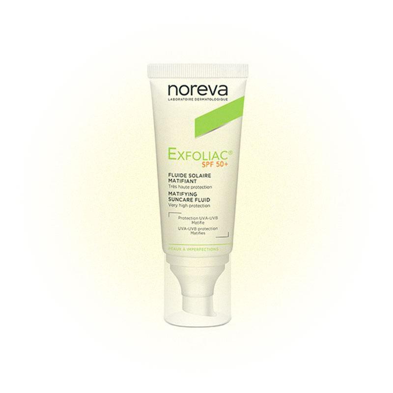 Санскрин Noreva exfoliac spf 50+ для проблемной кожи