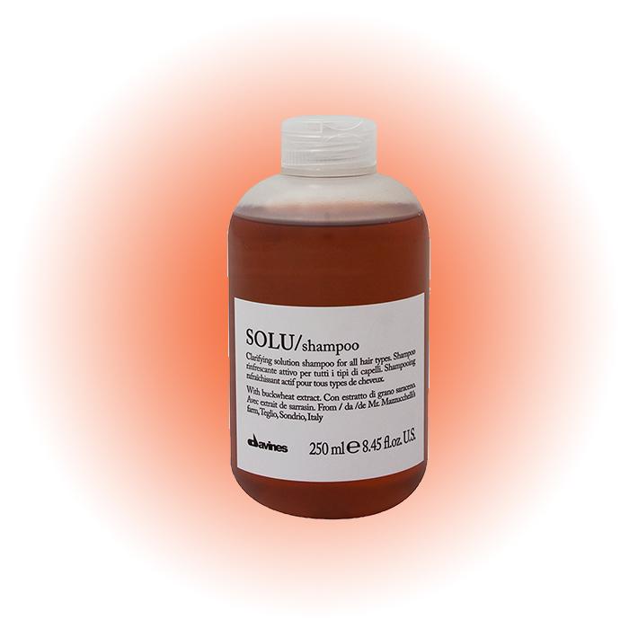 Активно освежающий шампунь для глубокого очищения волос Solu, Davines