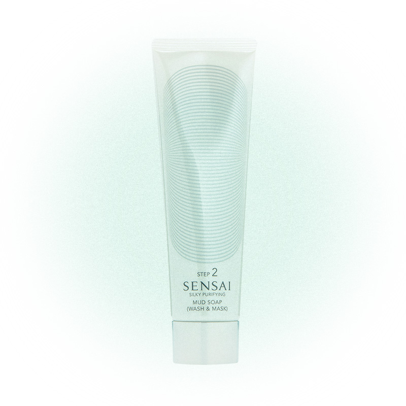 Грязевое мыло Silky Purifying Mud Soap (Wash & Mask), Sensai