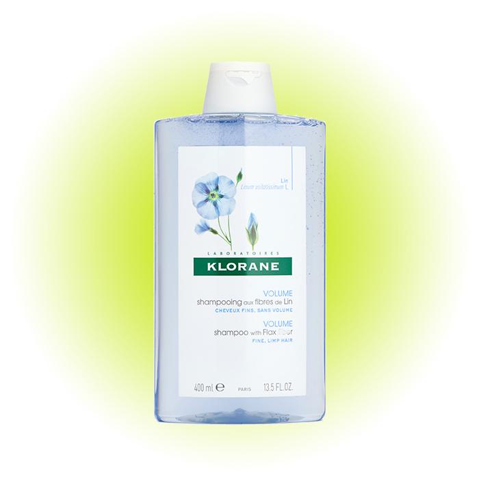 Шампунь для объема тонких волос With flax fiber, Klorane
