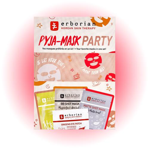 Набор тканевых масок Pyga-Mask Party, Erborian